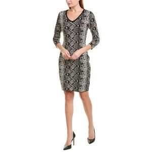 Nanette Lepore Snakeskin Sweater Dress Size M